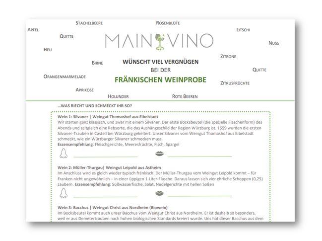 Fränkische Weinprobe zu Hause