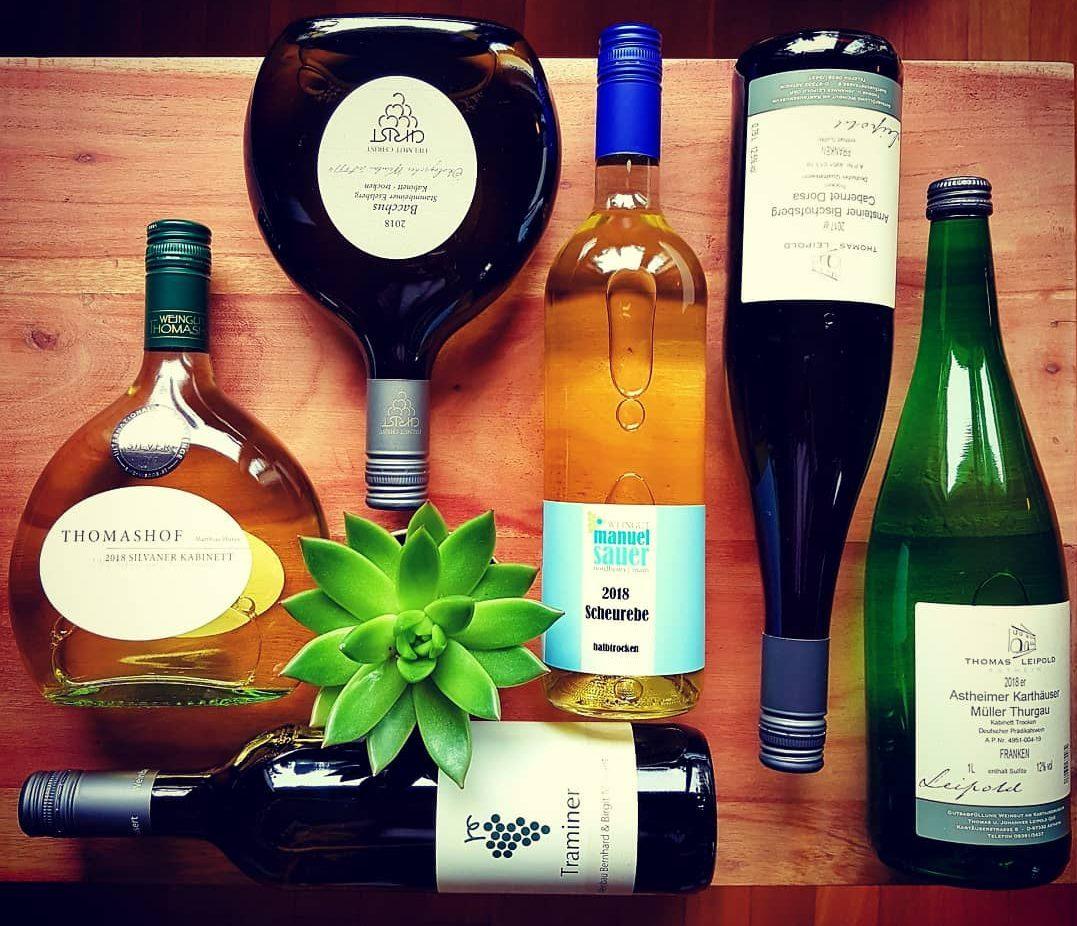 Welcher Wein zu welchem Essen__Fraenkische Weinprobe zu Hause
