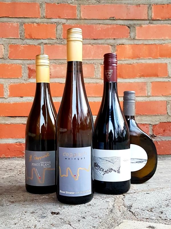 Bio-Weinprobe veganer Wein zu Hause