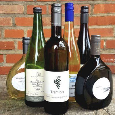Franken-Weinprobe zu Hause